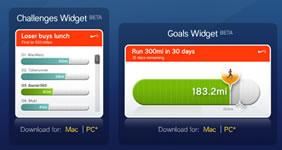 Widgets per tenere sotto controlle le performances con il kit Nike+