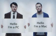 Campagna Get a Mac nella metro di Londra