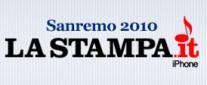 Sanremo 2010 – L'applicazione per iPhone de La Stampa
