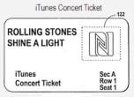 iTunes vuole venderti i biglietti dei concerti? Il brevetto c'è già!