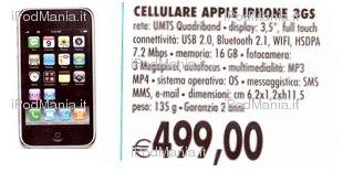 iPhone 3GS 16GB in offerta presso IperCoop: solo 499 Euro