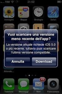 Scaricare App per i vecchi iPhone